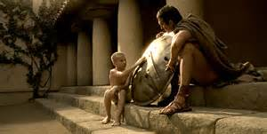 Leonidas and his father.